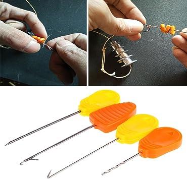 3Pcs Asixx Fishing Bait Needle 3Pcs Fishing Lures Needle Stainless Steel Carp Fishing Splicing Needle Baiting Hook Drill Rig Tools