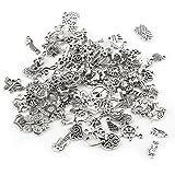 100pcs modello misto tibetano argento accessori di fascino parti, risultati unici del pendente per la produzione di gioielli e lavorazione