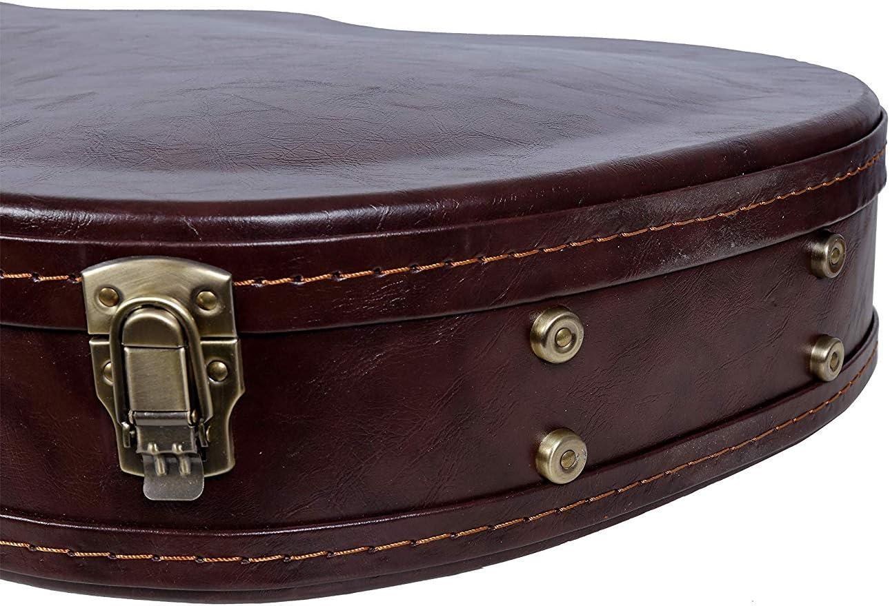 Crossrock Vintage Brown Arch-Top Custodia in legno per chitarra elettrica Semi-Hollow /& Hollowbody 335