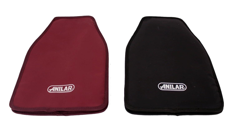 Anilar Manches de Refroidissement, Tissu, Noir et Rouge, 24x 15.8x 3cm, 6pièces 24x 15.8x 3cm 6pièces Anitex 8336019