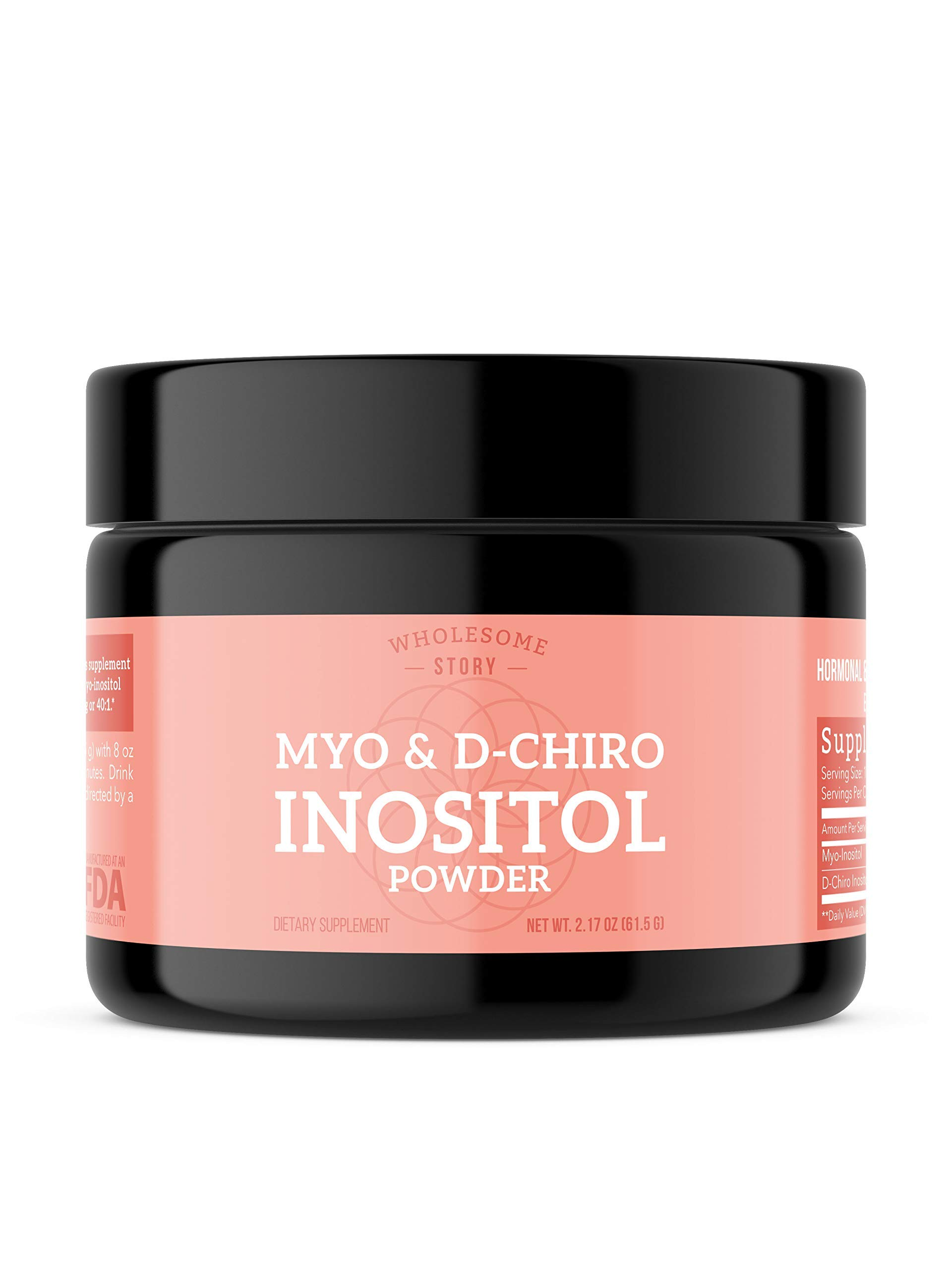 Myo-Inositol & D-Chiro Inositol Powder | 30 Day Supply | 40:1 Ratio | Hormonal Balance & Healthy Ovarian Function Support for Women | Vitamin B8 | Made in USA