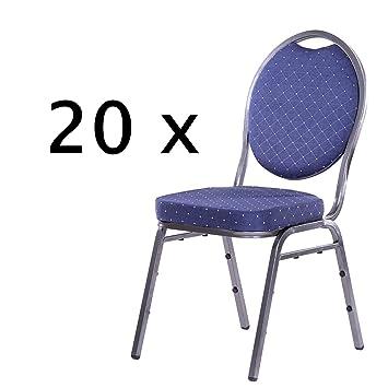 Stapelstühle 20er Set aus Metall Bankettstühle / Konferenzstuhl ...
