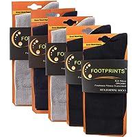 FootPrints Organic Cotton and Bamboo Men's Formal Socks Pack of 5 -(2 Black, 1Navy, 2Grey)