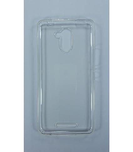 Funda de gel TPU carcasa protectora silicona para BQ Aquaris U Plus Transparente