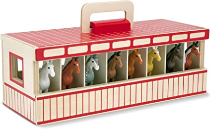 New Melissa and Doug Show-Horse Stable Free Shipping
