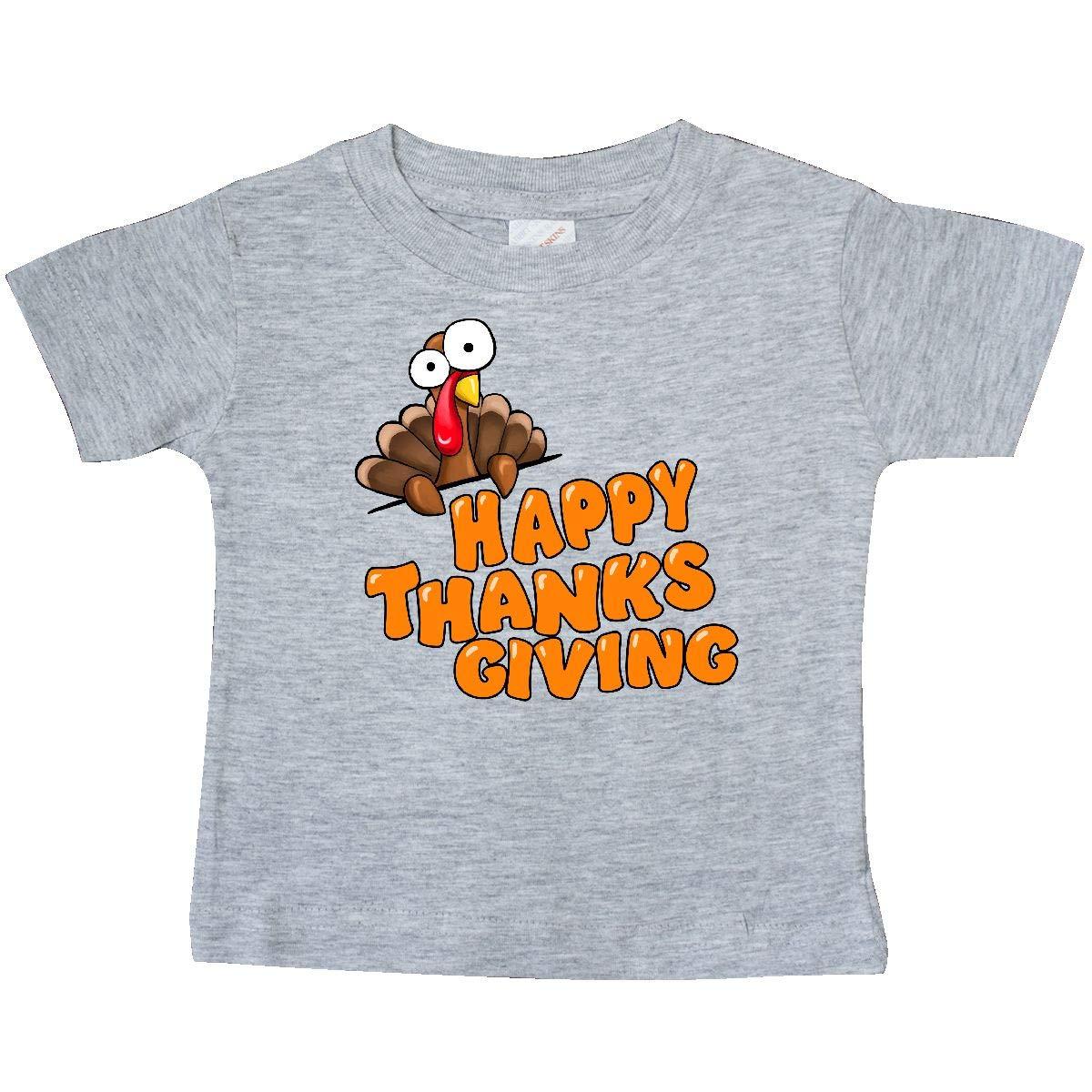 inktastic Happy Thanksgiving Cute Turkey Baby T-Shirt