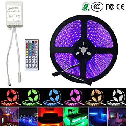 Econoled 5m 164ft rgb 5050smd 300led waterproof flexible led light econoled 5m 164ft rgb 5050smd 300led waterproof flexible led light strip lamp 44key ir audiocablefo