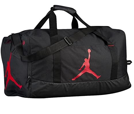 Nike Air Jordan Jumpman Duffel Sports Gym Bag Black Red 8A1913 Wet Dry  Pocket Water Resistant  Amazon.co.uk  Clothing e660740ab6252