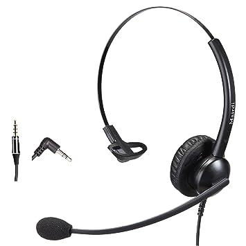 Teléfono Móvil oficina RJ9 auriculares binaurales para teléfono con cancelación de ruido micrófono Plus adicional de