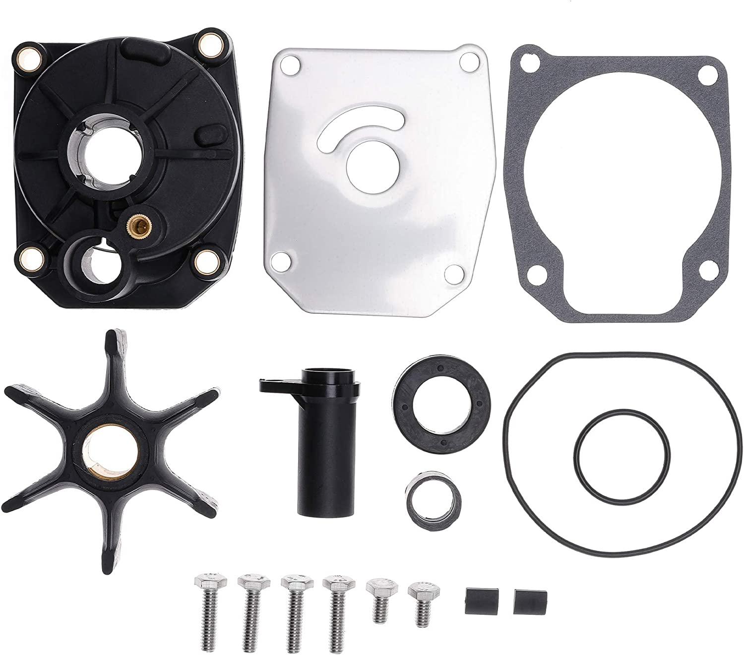 432955 Water Pump Impeller Repair Kit for Johnson Evinrude 60HP 65HP 70HP 75HP OMC 3 Cylinder Outboard Engines 1998-Up Replace Sierra 18-3389 0438591