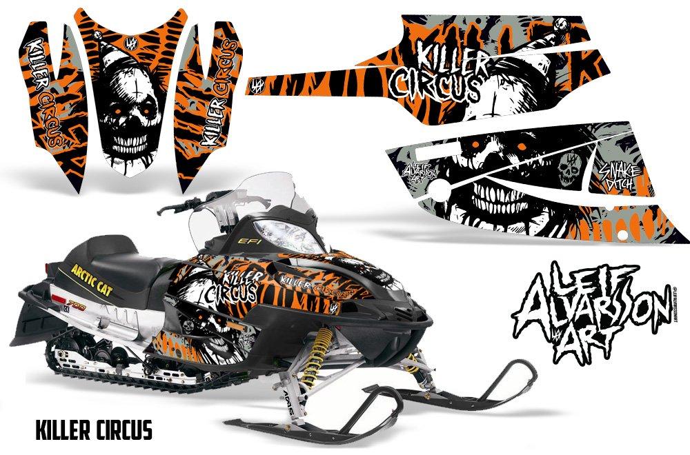 Savageキットビニールグラフィックデカールキットfor Arctic Cat Firecat Sabercat z1 2003 – 2006 – Killer Circusオレンジ   B01MS1LGV7
