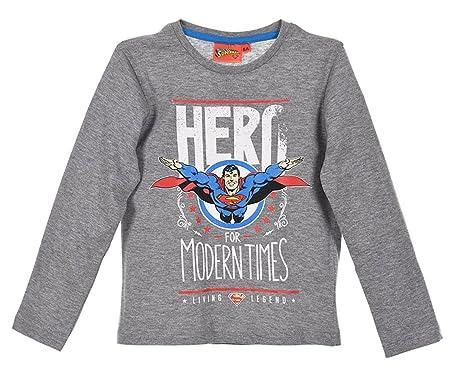 343dd57982bc3 Superman Tee Shirt Manches Longues Enfant garçon 3 Coloris de 3 à 8ans   Amazon.fr  Vêtements et accessoires