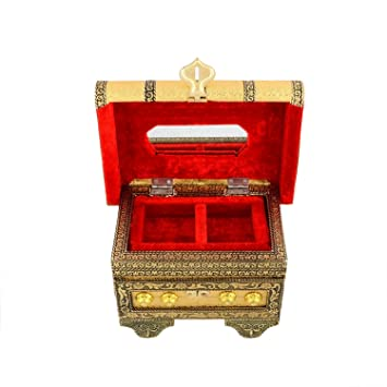 Amazoncom Sheesham Wood Handcrafted Wooden Jewelry Box Organizer