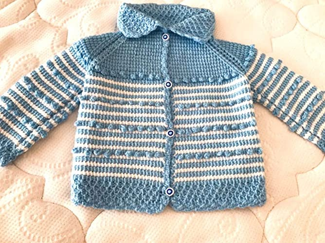 ee13be0c86a3 Amazon.com  new born Hand Knitted baby boy Vest - Handmade Vest ...