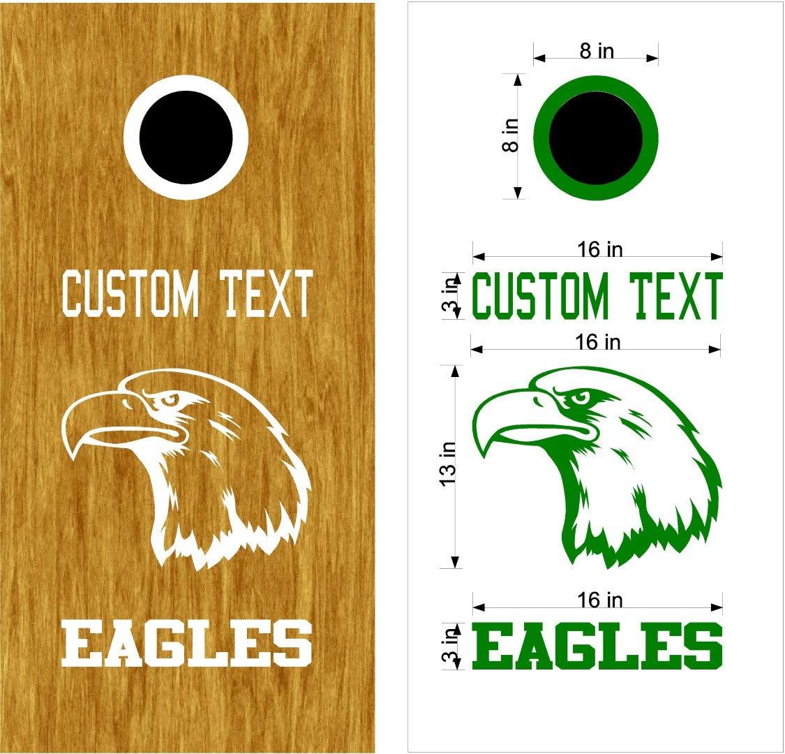 Eagles Mascot スポーツチーム コーンホールボード デカールステッカー 両方のボードに十分な大きさ。 B07HNG4RZK