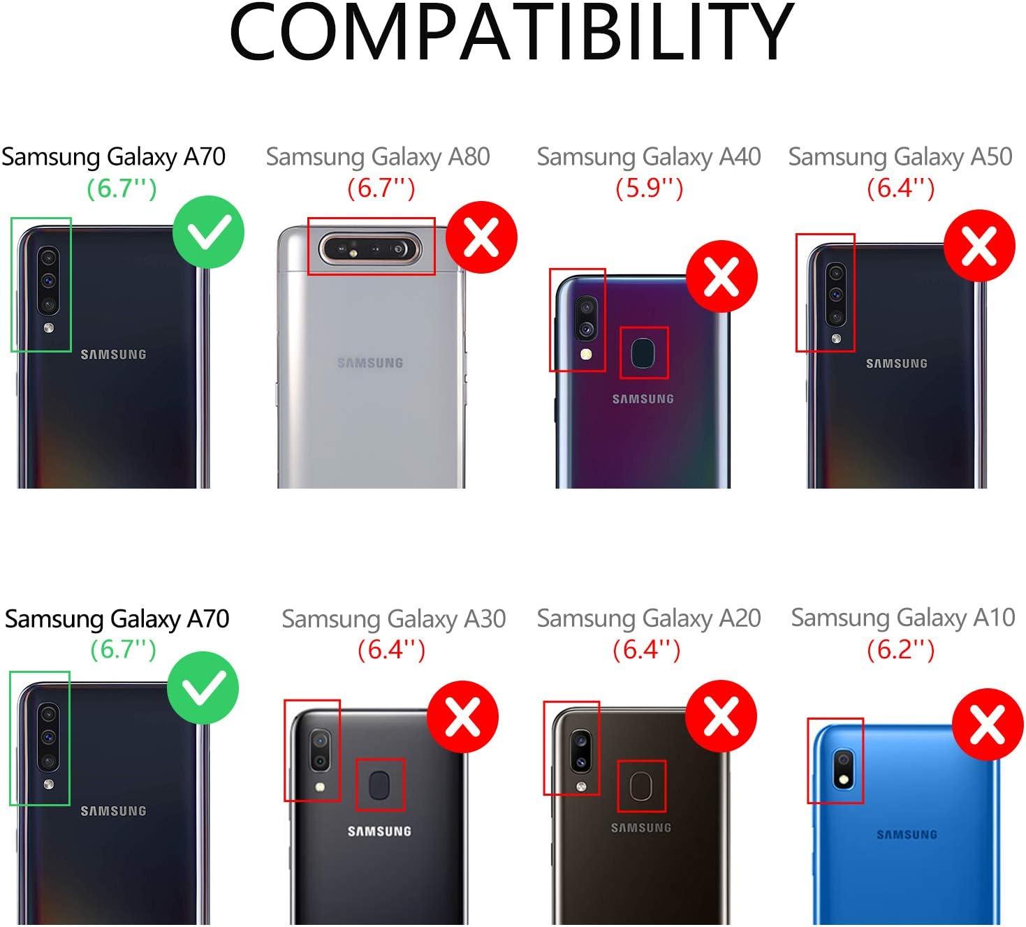 Vakoo Wallet Serie Funda para Samsung Galaxy A70 Carcasa, Negro: Amazon.es: Electrónica
