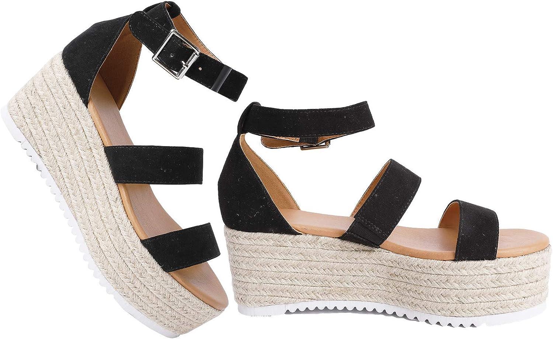 Syktkmx Womens Flatform Sandals Strappy
