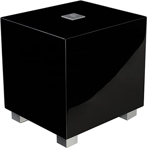 REL Acoustics T Zero Subwoofer, 6.5 inch Down-Firing Driver, High Gloss Black