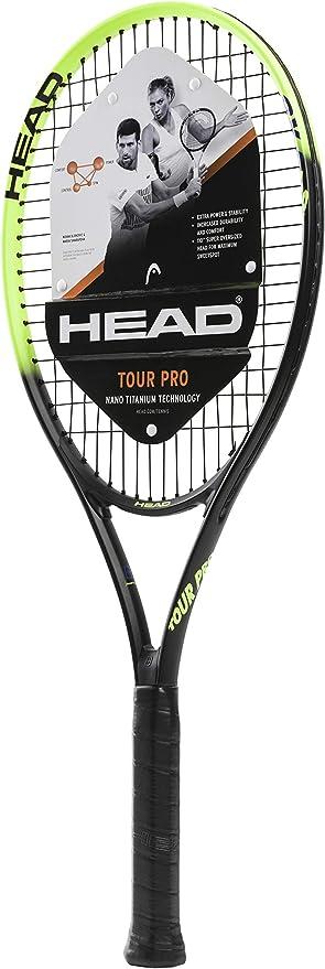 Amazon.com: Head Tour Pro - Raqueta de tenis (preajustada ...