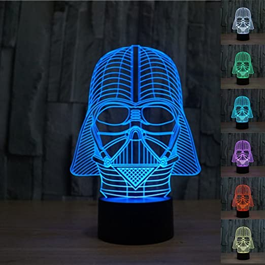 3D Star Wars Darth Vader LED lampe de table veilleuse enfants chambre chambre cadeau