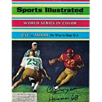O.J. Simpson Autographed USC Trojans 1968 Sports Illustrated Heisman JSA 26185 - Autographed College Magazines photo