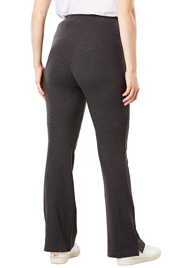 571b9ad37af39 Woman Within Plus Size Tall Stretch Cotton Bootcut Yoga Pant at Amazon Women s  Clothing store