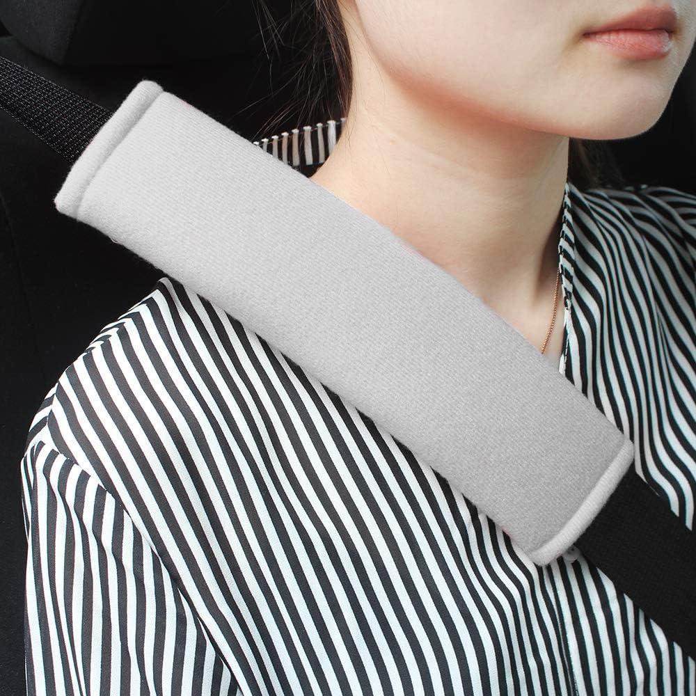 1A 2-Pack Black Cotton Soft Car Safety Seat Belt Strap Shoulder Pad for Adults and Children,Useful Shoulder Suitable for Backpack,Shoulder Bag Cover GAMPRO Car Seat Belt Pad Cover kit