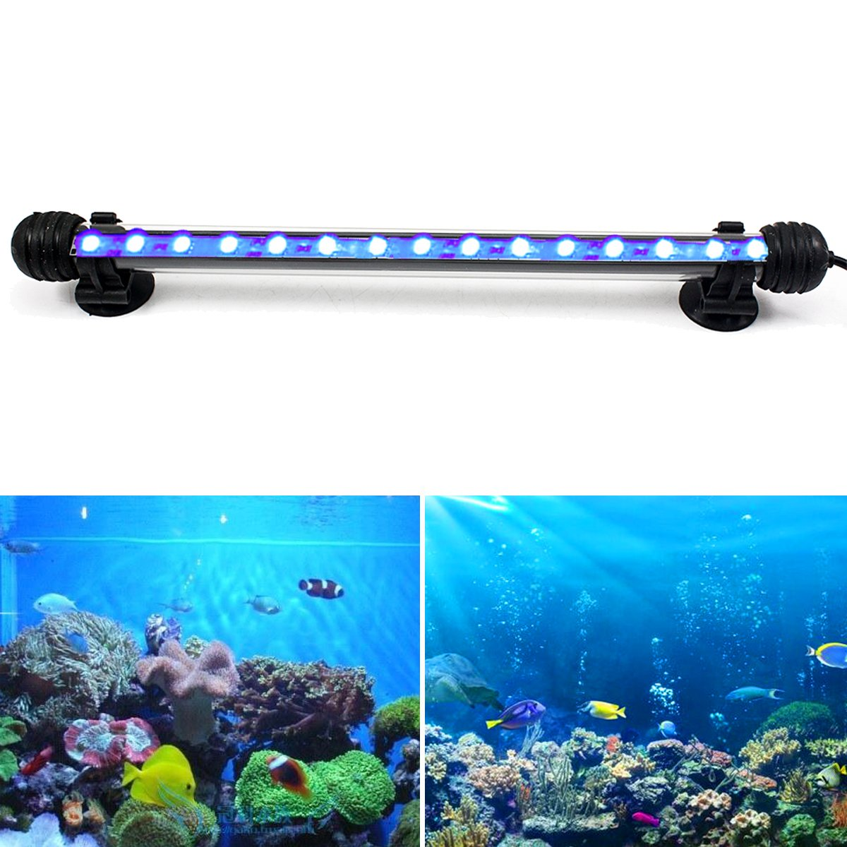 GreenSun LED Lighting 2W Submersible LED Aquarium Light, 12V 9 LEDs 5050SMD Underwater Strip Light for Fish Tank, White