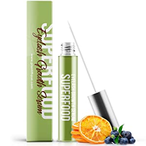 Superfood Eyelash Growth Serum for Lash - Thick Lashes and Eyebrows - Lash Booster & Eyebrow Serum to Grow Thicker - Irritation Free & Concentrated Formula