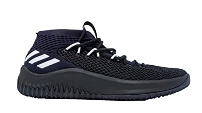 e120a53569cd adidas Dame 4 Shoe Men s Basketball Black Size  12.5 UK  Amazon.co ...