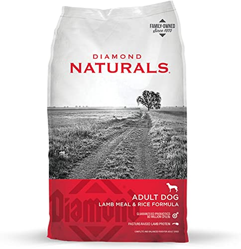 Diamond Naturals Adult Dry Dog Food Lamb Meal and Rice Formula Made with Lamb Protein, Probiotics and Essential Nutrients to Support Balanced and Overall Health 20lb