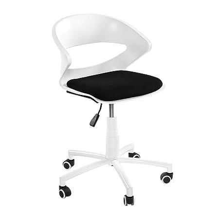 plastic office desk. Aingoo Design Home Office Desk Chair Mid-Back Swivel With White Plastic Backrest And 3