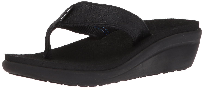 NEW Teva Women/'s Voya Wedge Flip Flop Motif Blackout Size 9 1019043