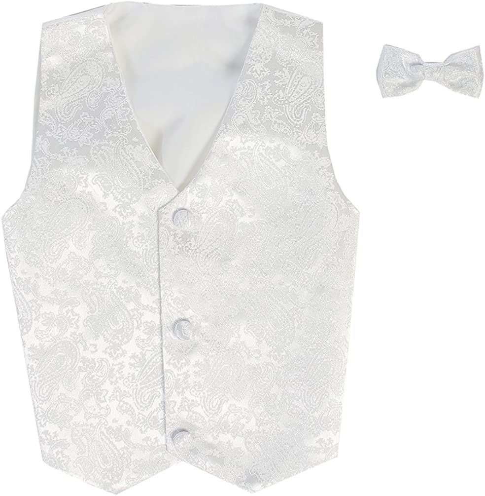 Baby Infant Toddler Boys Tween Sizes Multiple Colors Vest And Clip On Bowtie Set