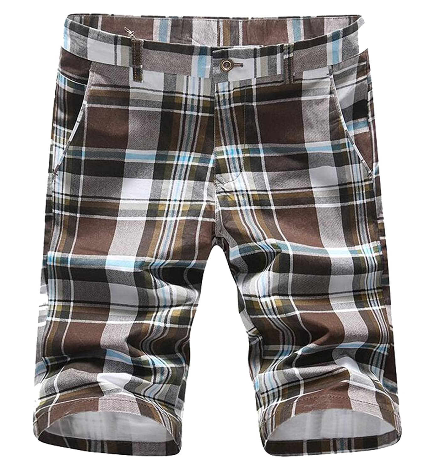 a54905d207 MLG Mens Plaid Casual Shorts Surfing Swim Trunks free shipping ...