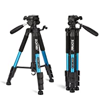 ZOMEI®Q111 Trépied professionnel pour appareil photo et camera avec un sac de transport. Compatible Canon, Nikon et Sony. (Bleu)