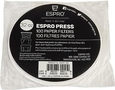 ESPRO Press Pack 100 Filtros de Papel 1032-PF-100 - para P3 y P5 ...