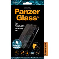 Panzer Glass Edge-to-Edge Black Frame Screen Protector - Tempered Glass w/Anti-Microbial Surface Protection, Case…