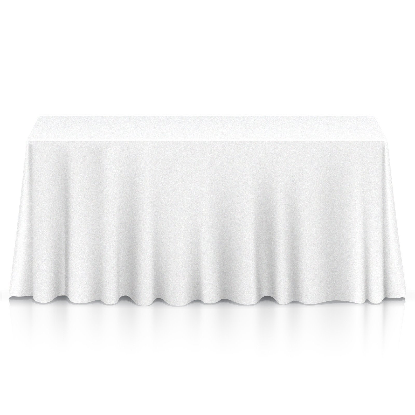 Lann's Linens - 90'' x 132'' Premium Tablecloth for Wedding/Banquet/Restaurant - Rectangular Polyester Fabric Table Cloth - White