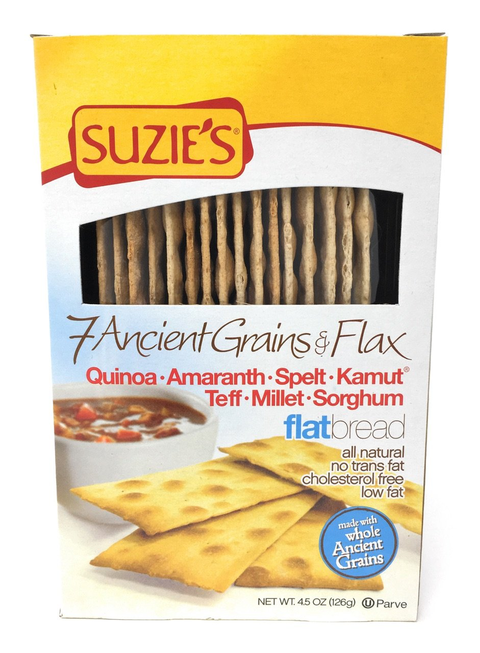 Suzie's 7 Ancient Grain Flatbreads 4.5 oz (Pack of 6)