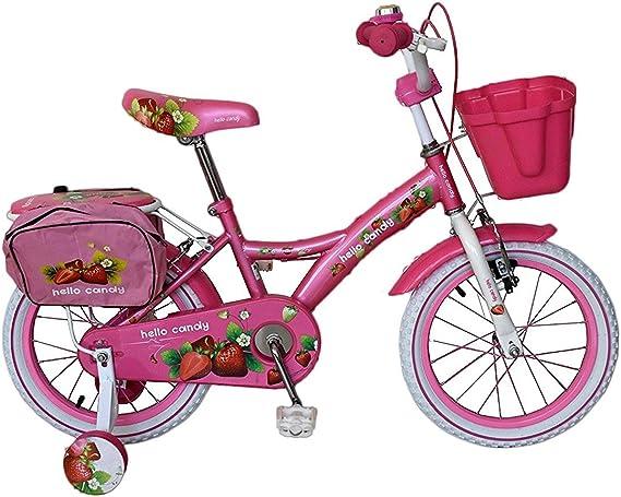 RS1609 Bicicleta para niña HELLO CANDY talla 16 marco en acero de ...