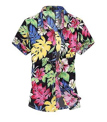 b8e16dc8 Allthemen Mens Leisure Floral Shirt Hawaiian Palm Short Sleeve Summer Beach  Shirts Flowers Casual Holiday Shirts: Amazon.co.uk: Clothing