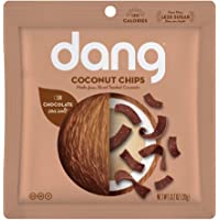 DANG Toasted Coconut Chips | Chocolate Sea Salt | 24 Pack | Vegan, Gluten Free, Non Gmo, Healthy Snacks Made With Whole Foods | 0.7 Oz Resealable Bags