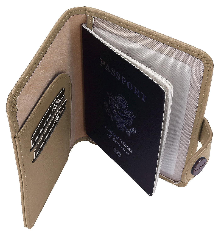 Zoppen RFID Unisexe Voyage Passeport Carte didentit/é Titulaire Housse de transport