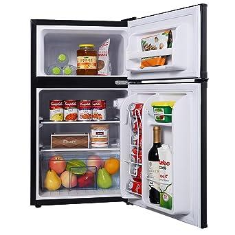 Attractive Costway Mini Kühlschrank Mit Gefrierfach  Kühl Gefrier Kombination/A+/Kühlteil 63L/ Design