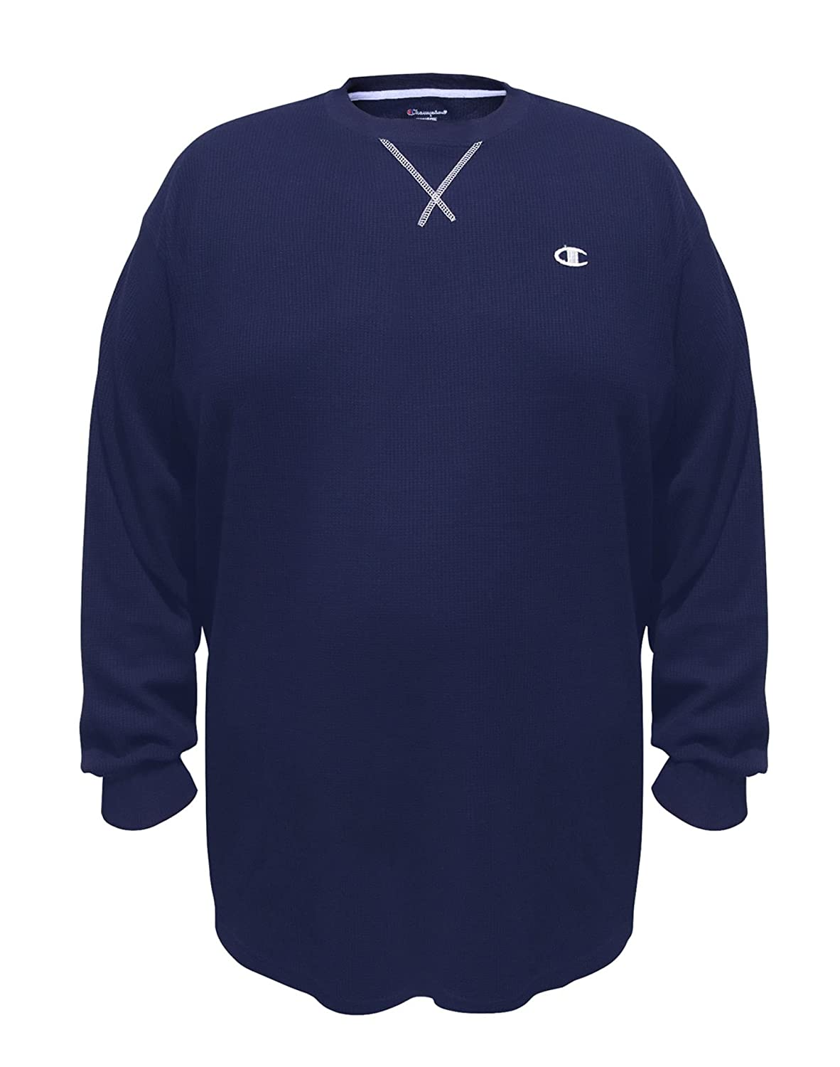 Champion Big Tall Long-Sleeve Thermal Tee, CH319, 4XL, Navy