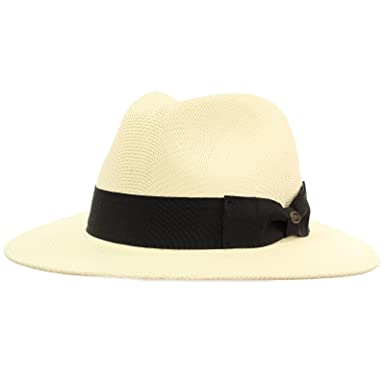 "892177e2 Men's Summer Lightweight Panama Derby Fedora Wide 2-3/4"" Brim Hat S"