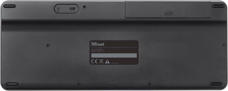 Trust Sento - Teclado inalámbrico para Smart TV Samsung, QWERTY español, negro: Trust: Amazon.es: Informática