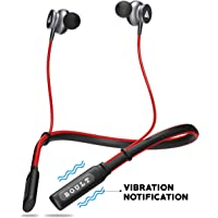 Boult Audio ProBass Curve Neckband in-Ear Wireless Bluetooth Earphones with Mic IPX5 Sweatproof Deep Bass Headphones with Long Battery Life Flexible Headset (Red)