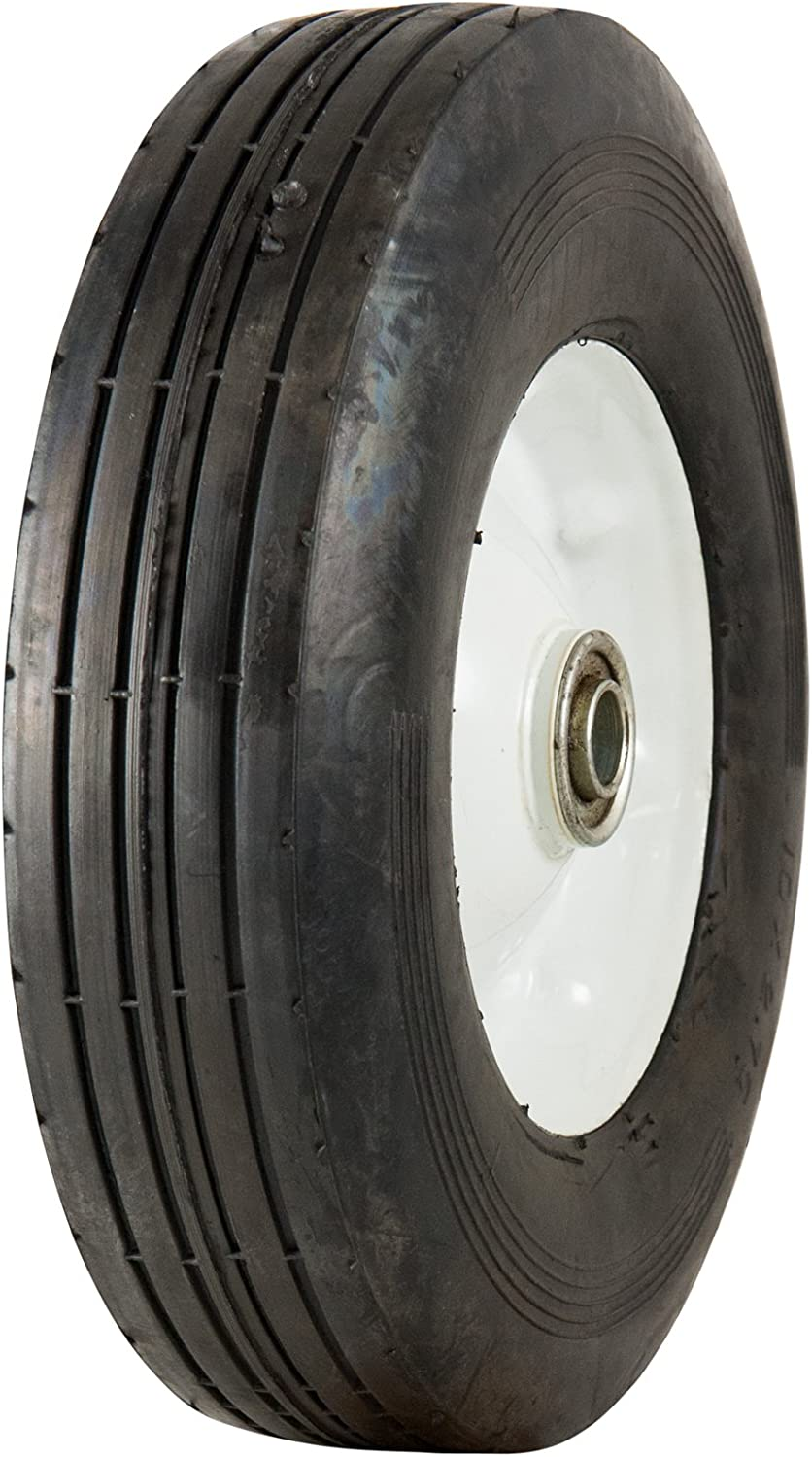 "Marathon 10x2.75"" Semi-Pneumatic Tire on Wheel"